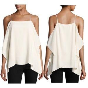 Theory petteri rosina cold shoulder blouse